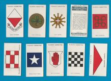 Collectable  cigarette cards set Army Corps & divisional signs 1924